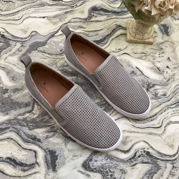 dd12687a2c2 Caslon Shoes - Caslon Gray Eden Slip on Perforated Sneakers 8M